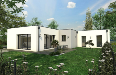 construction maison plain pied contemporaine